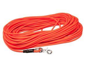 Mystique® Biothane Schleppleine rund 8mm neon orange 15m Scherenkarabinerhaken
