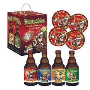 Weihnachts-Pils Festretter Weihnachtsbier im Bierwürfel Geschenkekarton (4 x 0.33 l) (11,36 EUR / l)