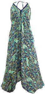 Boho Sommerkleid, Magic Dress, Maxirock, Midikleid, Strandkleid - Türkis, Damen, Polyester, Lange & Midi-Kleider