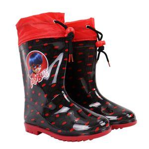Miraculous Ladybug Gummistiefel Regenstiefel - Gr. 25 bis 34Schwarz25/26