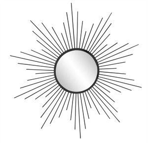 Sun Metallspiegel schwarz - Ø 60cm