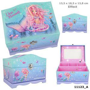 Depesche 11123 Fantasy Model Schmuckschatulle mit Licht Meerjungfrau Mermaid