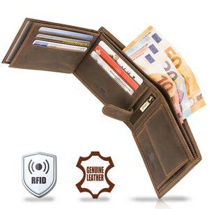 TALED®  Premium Leder Herren Geldbörse Lion mit Rfid Schutz -  Germany