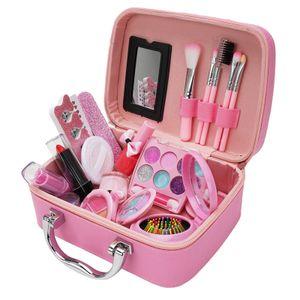 Maedchen Make-up-Kit fuer Kinder Kinder Make-up-Set Maedchen Prinzessin Make-up-Box ungiftige Kosmetik Kit Spielzeug so tun, als ob Make-up Beauty-Spielzeug Weihnachtsgeschenk Geburtstagsgeschenk spielen
