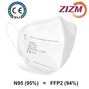 5 Stück ZIZM® FFP2 Maske PM2.5 94% Filtration Gesichtsmaske Vliesstoff Schutzmasken für Staubpartikelverschmutzung  Verkäufer: ZIZM