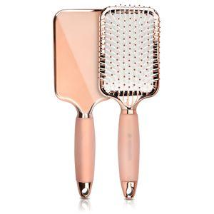 Navaris Haarbürste Rosegold mit Gel Griff - Paddle Brush für kurze & lange Haare