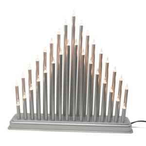 ToCi Lichterbogen Silber, Kerzenbrücke mit 33 Lampen
