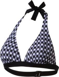 Firefly Damen Mix & Match Bikini Oberteil Mia II Neckholder schwarz grau kariert, Größe:38