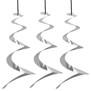 3er Set Windspirale Vogelabwehr Reflektierend Vogelschreck Spirale Taubenabwehr Windspiel Balkon Vogelschutz Taubenschreck
