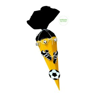 Schultüte Bastelset Fußball gelb-schwarz