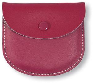 Rosenkranz-Etui Leder Pink 7,5 x 8,5 cm