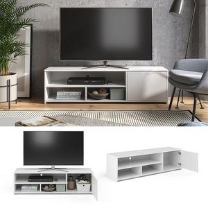 Vicco Lowboard TV-Board Fernsehschrank Gino weiß Fernsehtisch TV-Schrank