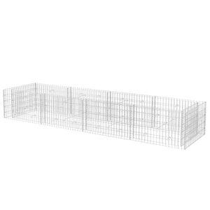 vidaXL Gabionen-Hochbeet Stahl 360×90×50 cm