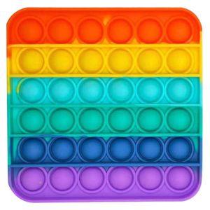 Push Pop Bubble Sensory Fidget Spielzeug Autism Stress Relief Kinder Game Mehrfarbig (Quadrat)