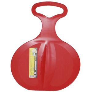Kinderschlitten, Rutsch-Schlitten Free 198 aus Kunststoff mit Haltegriff, Farbe:rot