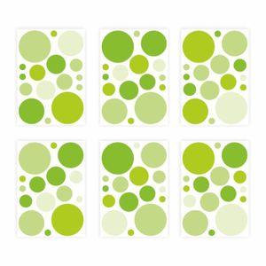136 Wandtattoo Punkte-Set grün 96 Stück