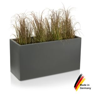 Pflanzkübel VISIO 50 Kunststoff Blumenkübel, 100x40x50 cm (L/B/H), Farbe: basaltgrau matt