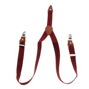 Kinder Jungen Mädchen Hosenträger Elastisch Einstellbare Braces Clip-On - rot wie beschrieben