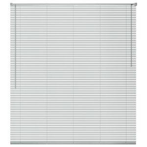 Aluminium-Jalousie Plissee Aluminiumlamellen Rollo Fenster Fensterjalousien Aluminium 160x160 cm Silber