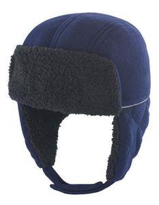 Kindermütze Ocean Trapper Hat / Winddicht - Farbe: Navy/Black - Größe: One Size