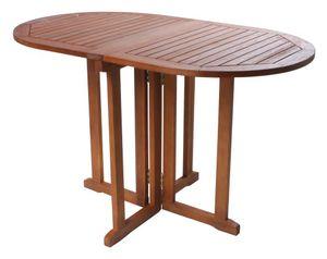 Garden Pleasure Balkontisch 'Baltimore' oval, klappbare Tischplatten, aus geöltem Eukalyptus, 120x70cm