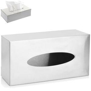 Bad Papierspender Kosmetiktücher Box Edelstahl Papiertuchspender zum Stellen oder Wandmontage