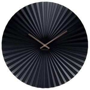 Wanduhr 'Sensu' Stahl schwarz, Ø 40 cm