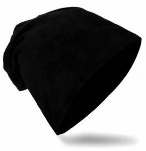 Kinder Beanie Unifarbe Schwarz M