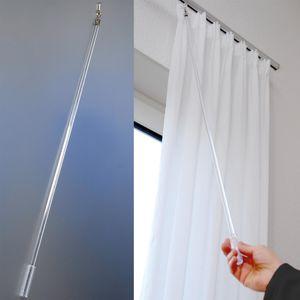 Schleuderstab Gardinenstab (95 cm) Transparent zum bewegen von Vorhängen
