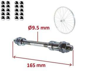 Fahrrad HINTERRADACHSE 9.5mm x 165 mm + 20x kugeln Achse VOLL NABEN HINTERRAD