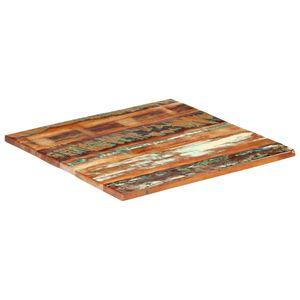vidaXL Tischplatte Quadratisch 80x80 cm 25-27 mm Altholz Massiv