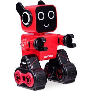 COSTWAY Intelligenter Roboter Ferngesteuerter Roboter Elektrisches Spielzeug Spreschen Musik Laufen Programmierbar Rot