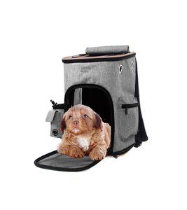 ABISTAB Pets Denim Blau robuster Faltbarer Rucksack Tragetasche Spazi, für Hunde und Katzen, mit Komfort und Sicherheit