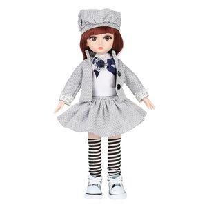 1 Stück 36cm Mädchenpuppe,1 Paar Schuhe (Style Random Ship),1 Stück Haarkamm (Style Random Ship),1 Stück Kleid (Style Random Ship),1 Stück Briefpapier (Style Random Ship) Weiß Puppe 05