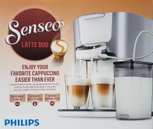 Philips Senseo HD6574/20 Latte Duo Kaffeepadmaschine, silber