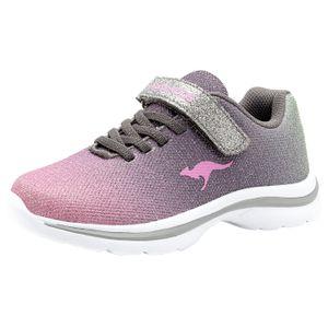 KangaROOS Kangashine EV II Mädchen Sneaker Turnschuhe Freizeit Sport Mehrfarbig, Schuhgröße:35