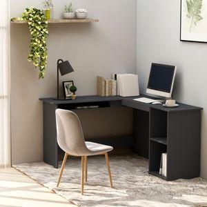 Eckschreibtisch in L-Form Bürotisch Vintage   PC Tisch   Arbeitstisch Gaming Tisch   für Arbeitszimmer Büro Vintage Grau 120×140×75 cm Spanplatte - direkt vom Hersteller HOM397092