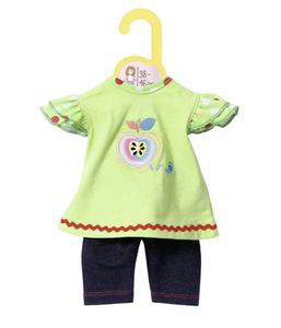 Zapf BABY born® Kleider Kollektion Dolly Moda Shirt mit Leggings, Größe 38-46cm