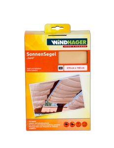 Sonnensegel 270x140cm sand farben UV Stabil Sonnenschutz