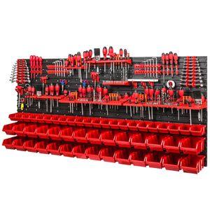 Wandregal Haken 40 Halerungen Kunststoff 50 Boxen rot