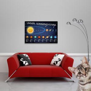 Educational - Bildung - Unser Sonnensystem - Poster - Größe 91,5x61 cm