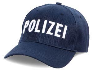 Baseball Cap Polizei Motiv Baumwolle, Modell wählen:blau