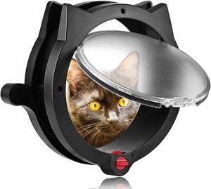 Katzenklappe für Haustiere - 4-Wege-Verriegelung Katzenklappe - für Innentüren & Außentüren, Wand- oder versteckte Katzenstreubox - Einfache und schnelle Aufstellung - Trainingtips für Katzen inklusive