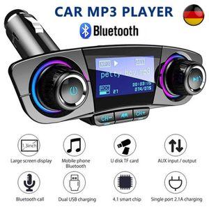 SOGOODS  Bluetooth FM Transmitter, Wireless Auto Radio Freisprecheinrichtung mit TF-Anschluss Doppel-USB Ladegerät MP3 Music Player, für iOS und Android Bluetooth-Geräte