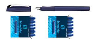 Schneider Füller Patronen Ceod Shiny Pacific Blue Füller inkl. 12 Patronen