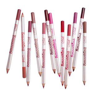 12 Farben Lipliner Wasserdichte Lip Liner Lippenstift Lippenkonturenstift, Wasserfest und Langanhaltend