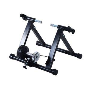 """HOMCOM Rollentrainer Fahrradtrainer Fahrrad Heimtrainer Magnetbremse klappbar verstellbar 26""""-28"""" oder 700C Stahl Schwarz 54,5 x 47,2 x 39,1 cm"""