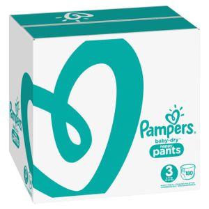 Pampers Baby Dry Pants Gr.3 Midi 6-11kg MonatsBox, 180 Stück - Größe 3 - 180 Stück
