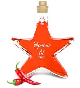 Peperoniöl - Chiliöl  0,2 L Sternflasche Angenehm scharf! 100% cholesterin- und laktosefrei!