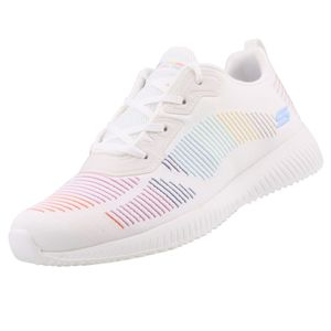 Skechers BOBS Damen Sneaker SQUAD VINTAGE SOLE Weiß/Mehrfarbig, Schuhgröße:EUR 36
